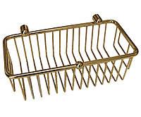 Бронзовая полочка-решетка для душа глубокая Paccini&Saccardi Accessori Doccia 30063 бронза