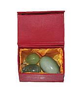 Массажные нефритовые яйца, Шары Венеры (зелёный камень, гладкие)