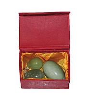 Масажні нефритові яйця, Кулі Венери (зелений камінь, гладкі)