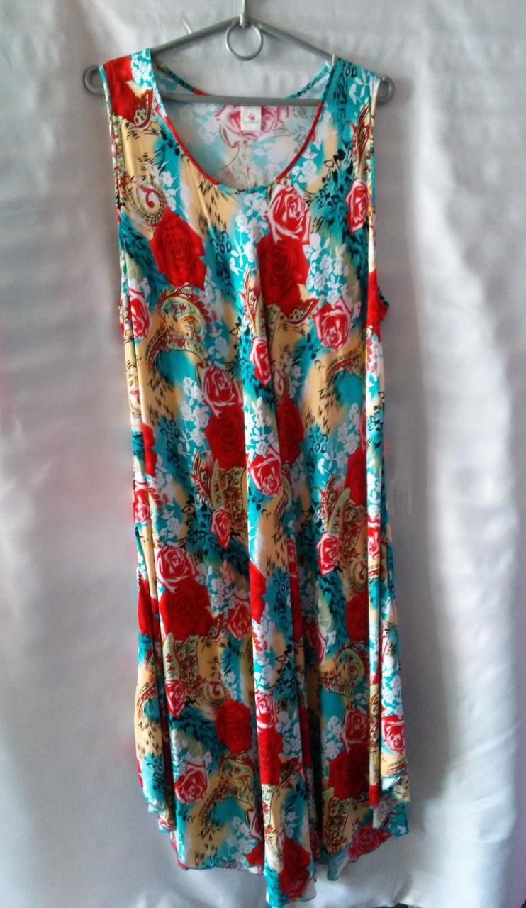 Платье для дома женское батальное (коттон)