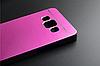 Металлический розовый чехол Motomo для Samsung Galaxy A3