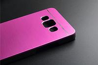 Металлический розовый чехол Motomo для Samsung Galaxy A3, фото 1
