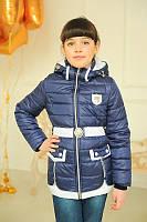 Весенняя куртка для девочки на рост 116-146 см