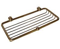 Золотая полочка-решетка для душа  Paccini&Saccardi Accessori Doccia 30114