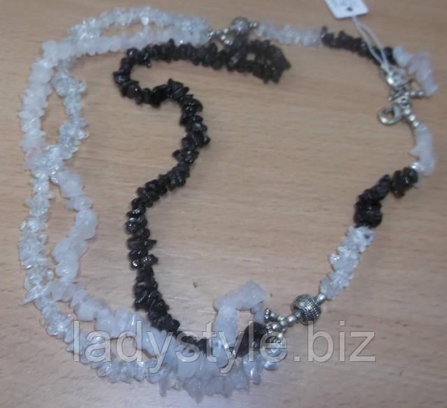 купить украшение колье ожерелье гранат топаз розовый кварц