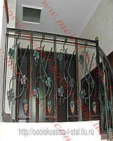 Лестничные перила с виноградными гроздьями 31 Киев