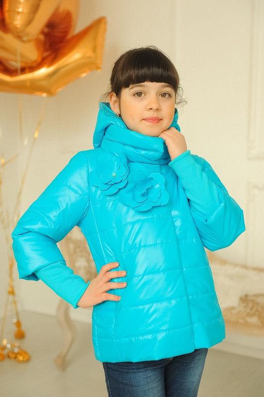Весенняя куртка для девочки на рост 122-152 см