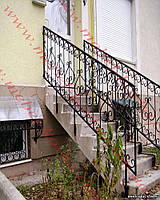 Кованые лестничные перила  39