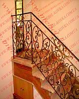 Кованые лестничные перила  40