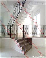 Кованые лестничные перила  43