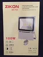Светодиодный прожектор с датчиком движения 100W 11000LM 6500K