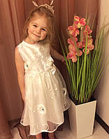 Лёгкое нарядное платье  с камнями для праздника или утренника, прокат в Харькове, фото 1