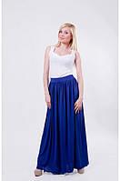 Костюм женский летний с длинной юбкой синий, фото 1