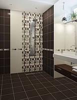 """Керамическая плитка для стен 25/33см, Вельвет""""коричневый."""