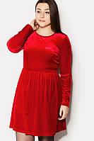 Нарядное женское платье из велюра в 2х цветах PROM