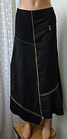Юбка черная модная красивая демисезонная i.Quing р.42 6108а, фото 1