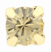 Стразы в золотых цапах Swarovski 17704 Gold Plated Golden Shedow