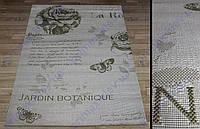 """Безворсовый ковер-рогожка """"Ботанический сад"""", цвет - оливковый"""