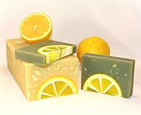 Мыло ручной работы нарезное Лимон-глина