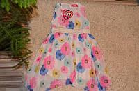 Нарядное летнее платье для девочек S&D 4-12 лет