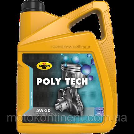 Моторное масло KROON OIL PolyTech 5W-30 синтетическое для бензин. и дизельн. моторов универсальное 5л. KL35467, фото 2