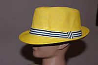 Шляпа молодежная Желтая