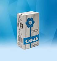 Соль поваренная пищевая фасованная в бумажные пачки по 1,5 кг