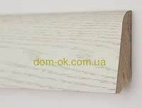 Плинтус деревянный шпонированный Ключук Дуб арктик Rustique высотой 60 и 80мм 60х19мм.