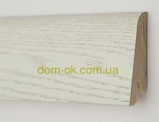 Плинтус деревянный шпонированный Ключук Дуб арктик Rustique высотой 60 и 80мм 80х19мм.