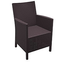 Кресло пластиковое CALIFORNIA 806 (коричневый)