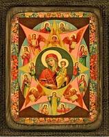 Деревянная икона Неопалимая Купина средняя