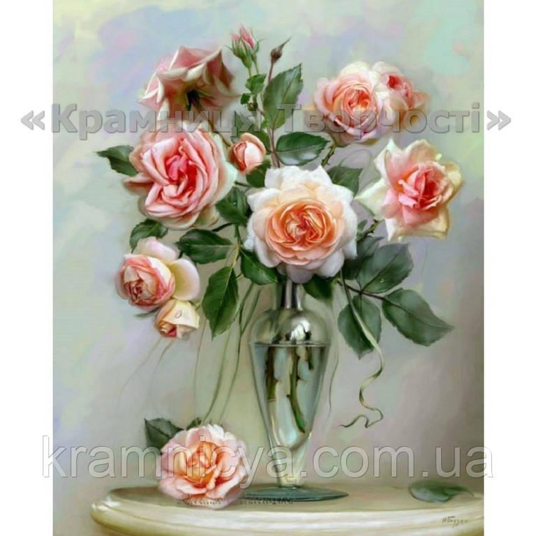 Картина по номерам Прекрасные розы, 40х50см (КН2034)