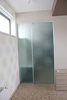 Стеклянная перегородка в ванную комнату