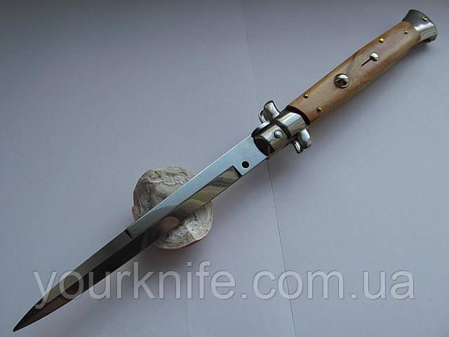Нож Итальянский автоматический стилет Frank Beltrame 28см дерево оливы bayonet