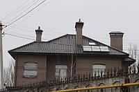 Жилой дом в г. Днепропетровск. Черепица Креатон Футура (Германия), подшива свеса фиброцементный сайдинг Етернит (Бельгия).