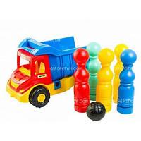 Грузовик wader multi truck с кеглями 39220