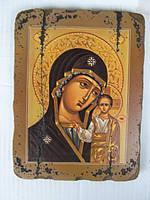 Икона Пресвятой Богородицы Казанской в подарочном мешочке