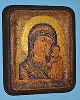 Икона дерево Богородицы Одигитрия Казанская