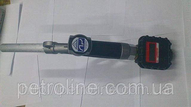 Паливозаправний кран з лічильником MGE 40 для дизельного пального, масла, 2-40 л/хв, +/-0,5%, Іспанія