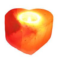 """Подсвечник соляной """"Сердце"""" из гималайской соли"""