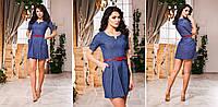 Платье женское короткое из джинса повседневное P1802