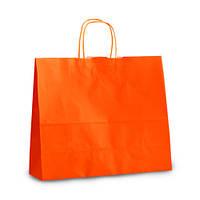 Крафт-пакет  Volley 32x13x28 оранжевый с витыми ручками