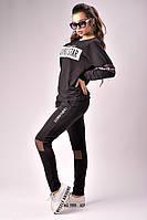 Стильный костюм с сеткой на коленках 3 цвета