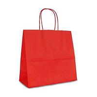 Крафт-пакет  Volley 25x11x24 красный с витыми ручками