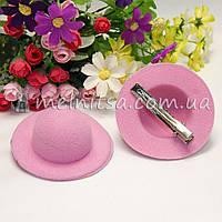 Основа для заколки - шляпка 7 см, св.розовый