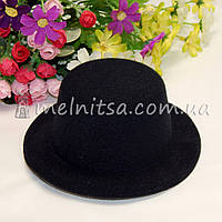 Основа для шляпки - цилиндр, 13 см, черный