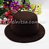 Основа для шляпки - цилиндр, 13 см, коричневый