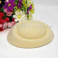 Основа для шляпки-таблетки 13 см, бежевая