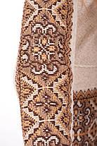 Вязаная туника Влада коричневая с капюшоном   В'язана туніка Влада коричнева з капюшоном, фото 3