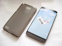 Чехол силиконовый LG max x155 серый